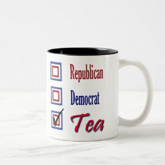 Republican? Democrat ? - TEA Party! Coffee Mug