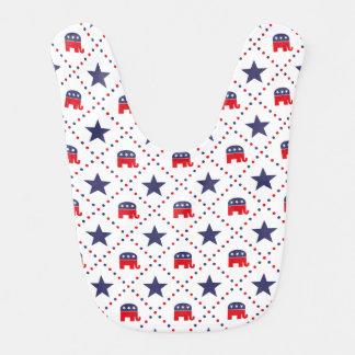 Republican Diamond Pattern Baby Bibs
