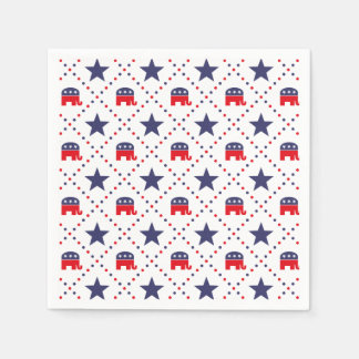 Republican Diamond Pattern Paper Napkins