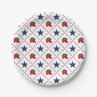 Republican Diamond Pattern Paper Plate