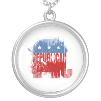 REPUBLICAN ELECTION Faded.png Custom Necklace