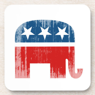 Republican Elephant (2) Faded.png Beverage Coaster