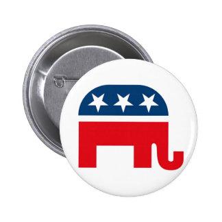 Republican Elephant 6 Cm Round Badge
