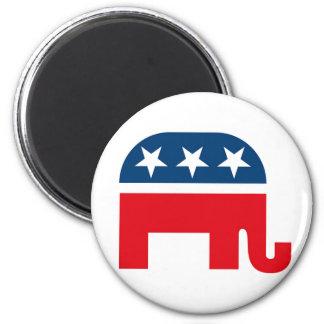 Republican Elephant 6 Cm Round Magnet