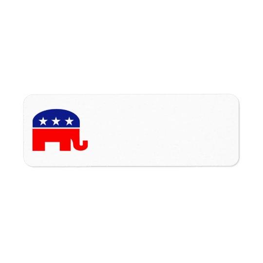 republican elephant address label