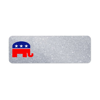 republican elephant address label