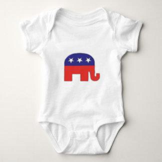 Republican Elephant Baby Bodysuit