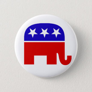 Republican Elephant Button