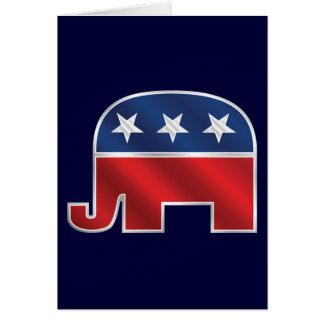 Republican Elephant Custom Greeting Card
