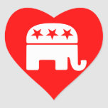 Republican Elephant Heart Sticker