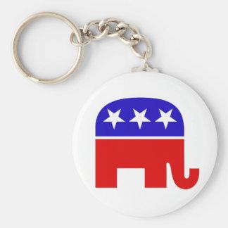 Republican Elephant Keychain
