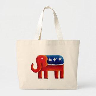 Republican Elephant Large Tote Bag