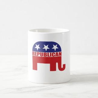 Republican Elephant Logo Basic White Mug