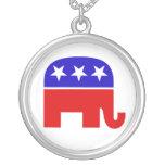 Republican Elephant Necklace