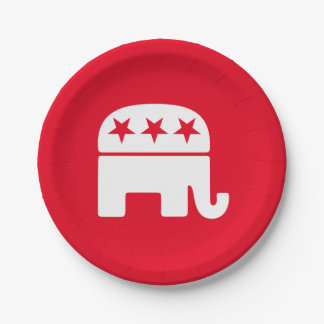 Republican Elephant Personalize 7 Inch Paper Plate
