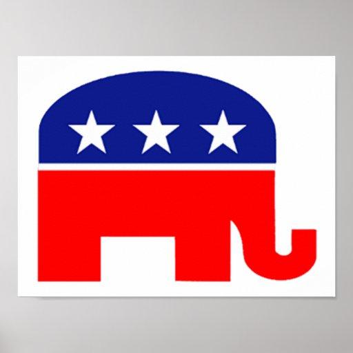 Republican Elephant Circle Magnet | Magnet America  |Republican Party Elephant