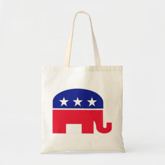 Republican Elephant Red, White and Blue