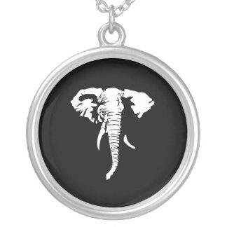 REPUBLICAN ELEPHANT ROUND PENDANT NECKLACE