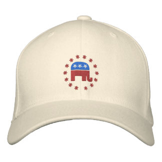 Republican Elephant with Star Logo Political Baseball Cap