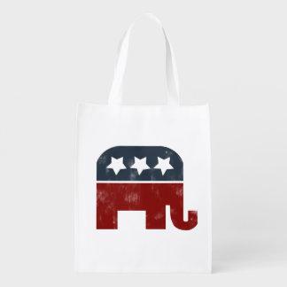 republican elephant grocery bag