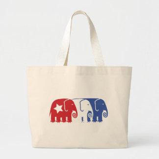 Republican Elephants Canvas Bag