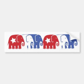 Republican Elephants Bumper Sticker