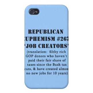 Republican Euphemism Job Creators JOKE iPhone 4 Covers