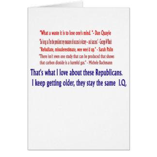 Republican I.Q. Greeting Card