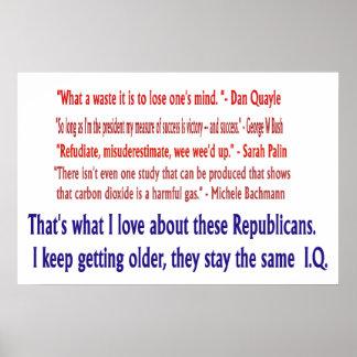 Republican I.Q. Poster