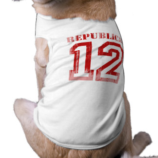 REPUBLICAN IN '12 Faded.png Sleeveless Dog Shirt