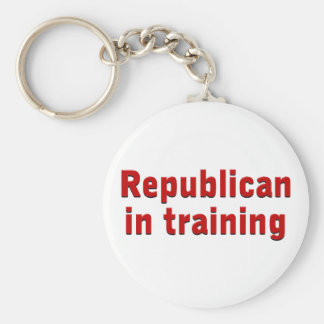 Republican in Training Basic Round Button Key Ring