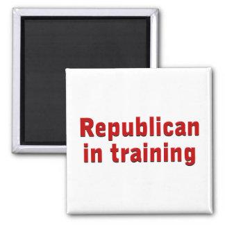 Republican in Training Square Magnet