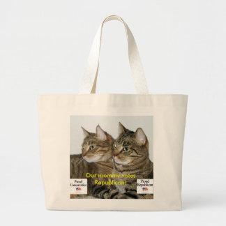 Republican Kitties Jumbo Tote Bag