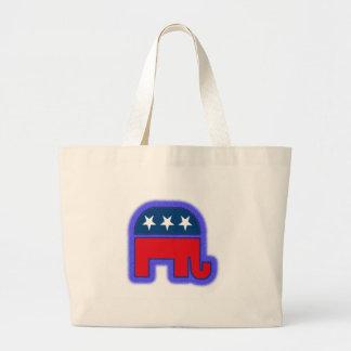 Republican Logo.tif Canvas Bags
