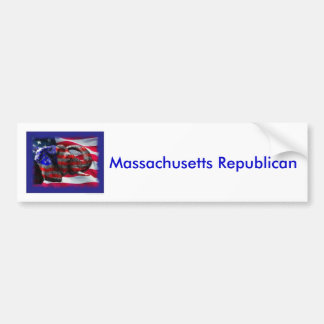 republican, Massachusetts Republican Bumper Sticker