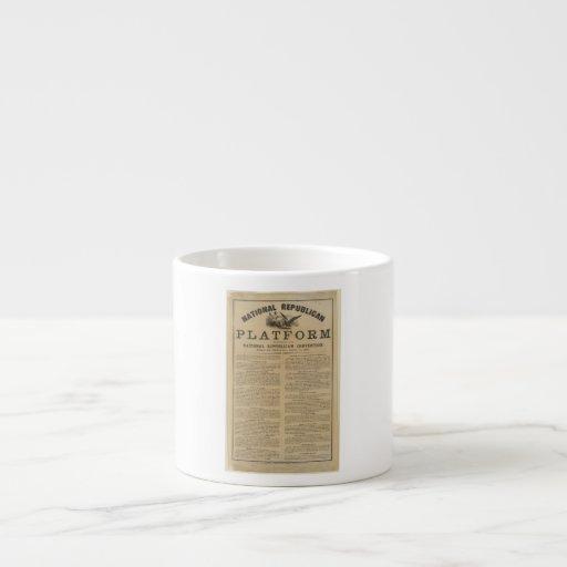 Republican National Convention Platform 1860 Espresso Cups