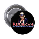 Republican, Not On Welfare 6 Cm Round Badge