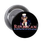Republican, Not On Welfare 6 Cm Round Badge