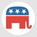 Republican Party 2012 Round Stickers