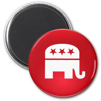 Republican Party Logo 6 Cm Round Magnet