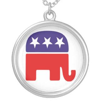 Republican Party Necklace