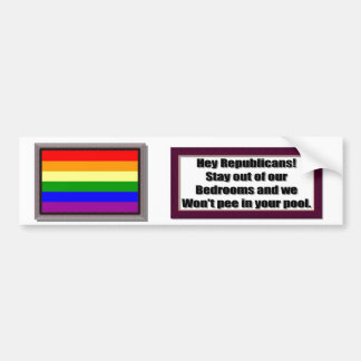 Republican Pools Bumper Sticker