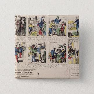 Republican propaganda 15 cm square badge