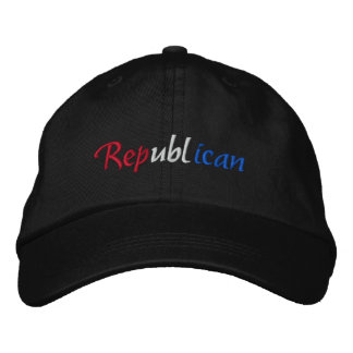 Republican Red White and Blue Embroidered Cap Embroidered Hats