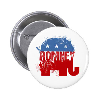 Republican ROMNEY 6 Cm Round Badge