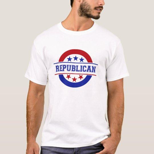 Republican Stamp Logo Blue T-Shirt