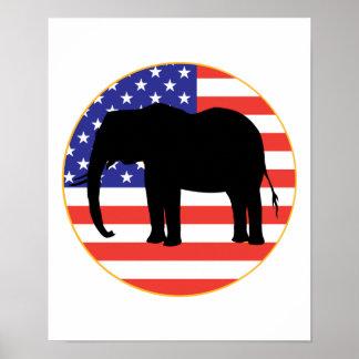 republican symbol elephant design poster