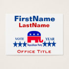 Republican Templates Business Card