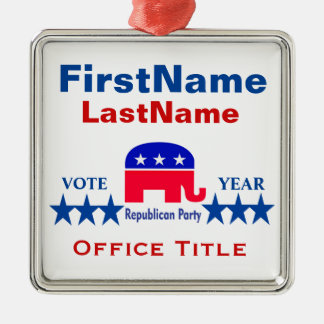 Republican Templates Christmas Ornament