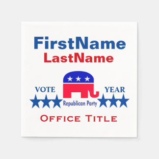 Republican Templates Paper Napkin